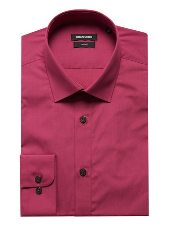 mens formal shirts cerise pink