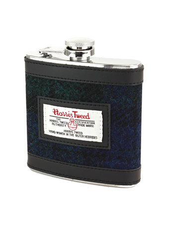 Black Watch Tweed 6oz Hipflask