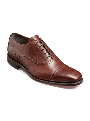barker shoes johnstone walnut calf toe cap shoe