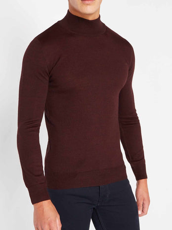burgundy-turtle-neck