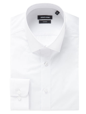 Tapered Fit White Shirt