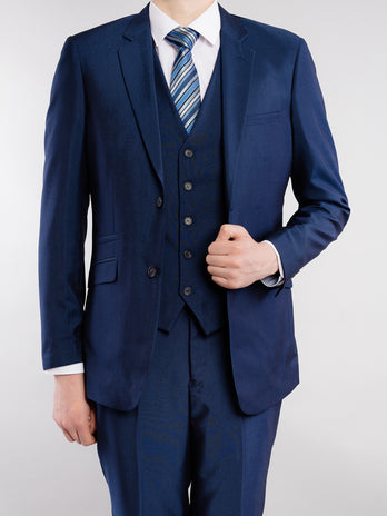 Tapered Royal Blue Suit
