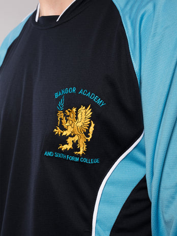 Boys Bangor Academy Long Sleeve Football Top