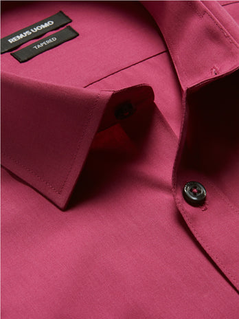 remus uomo formal shirts cerise pink