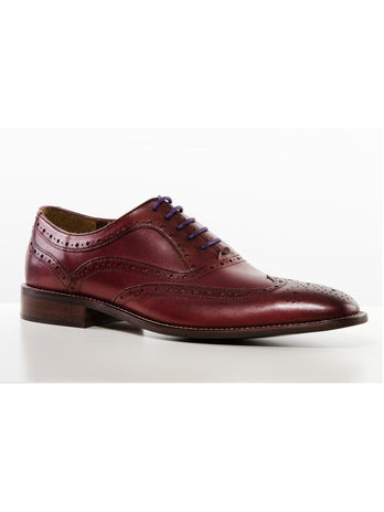 Ox Blood Chisel Toe Brogue