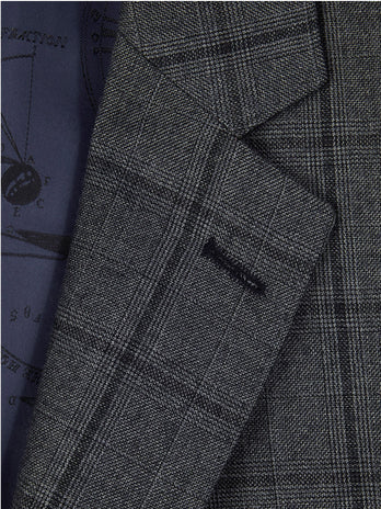 Grey Check 2-Piece Suit