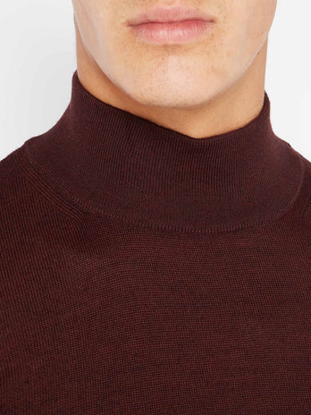 Burgundy Turtle Neck Sweater