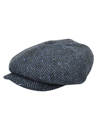 Blue Tweed Baker Cap