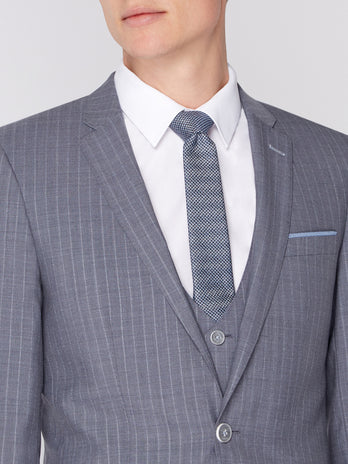 Grey Pinstripe 3-P Suit