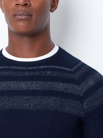 Navy Design Crew Neck Sweater