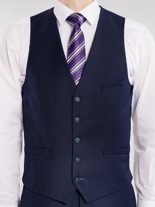 Tapered Navy Blue 3-Piece Suit