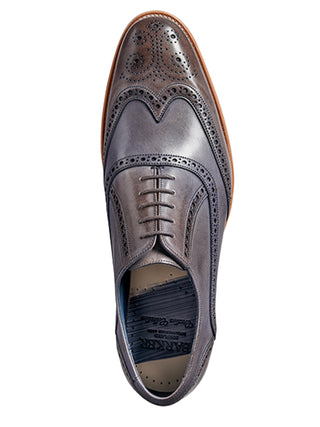 valiant grey hand painted wingtip brogue shoe from barker shoes