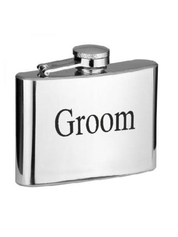 4oz Silver Wedding Hipflask