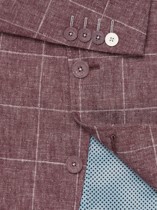 A red checked linen blazer from Remus Uomo