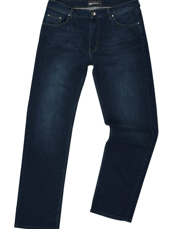 A dark blue stetch denim jean from Remus Uomo 68507/28
