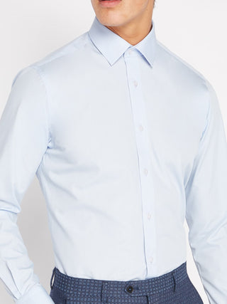 Tapered Fit Sky Blue Shirt