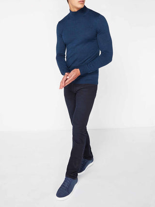 Dark Blue Turtle Neck Sweater