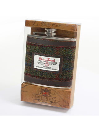 Green Tweed 6oz Hipflask
