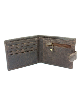 Brown Grain Leather Wallet