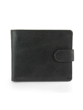 Black Grain Leather Wallet