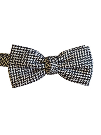 Dog Tooth Bow Tie