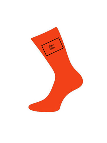 wedding socks bestman orange
