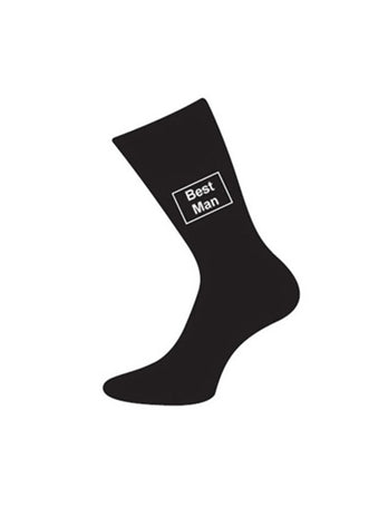 wedding socks bestman black