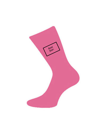 wedding socks bestman pink