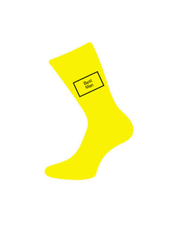 wedding socks bestman yellow