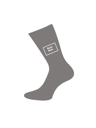 wedding socks for bestman grey