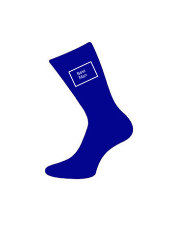 wedding socks bestman blue