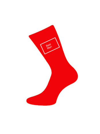 wedding socks bestman red
