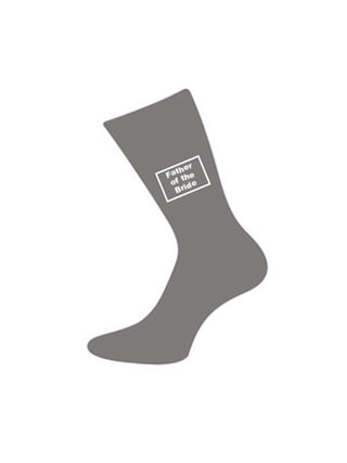 wedding socks father of bride grey