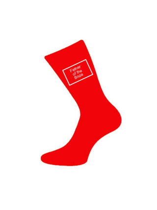 wedding socks father of bride red