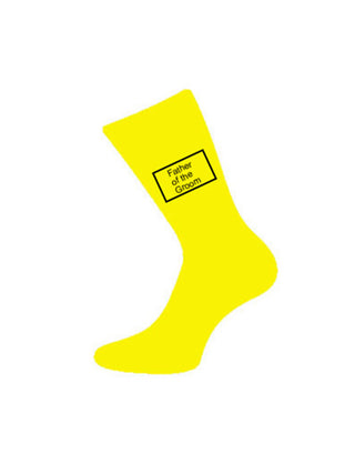 Yellow Wedding Socks
