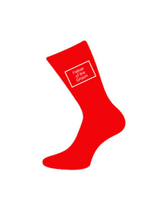 wedding socks father of groom red