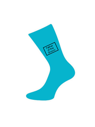 wedding sock father of groom turquoise