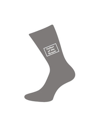 wedding socks father of groom grey