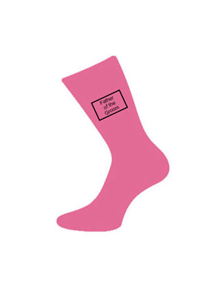 wedding socks father of bride pink