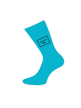 wedding sock groomsman turquoise