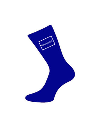 wedding socks groomsman blue