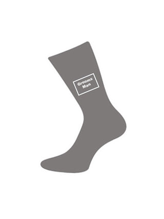 wedding socks groomsman grey