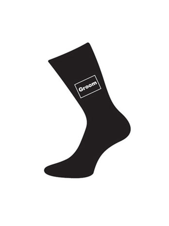 wedding socks for groom black