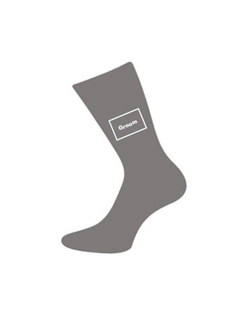 wedding socks for groom grey
