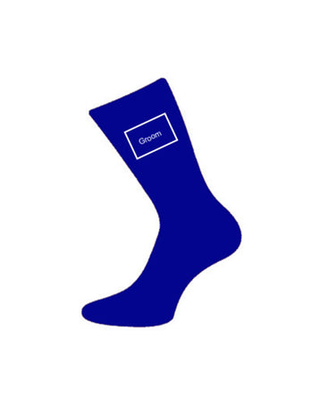 wedding socks for groom blue