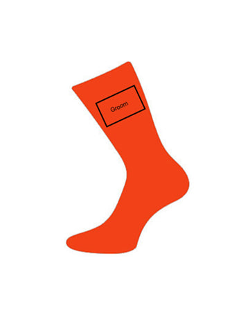 wedding socks for groom orange