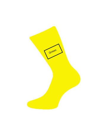 wedding socks for groom yellow