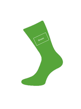 wedding socks for groom green