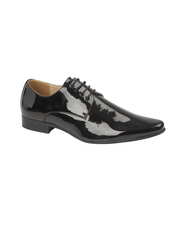 Derby Black Patent Shoe
