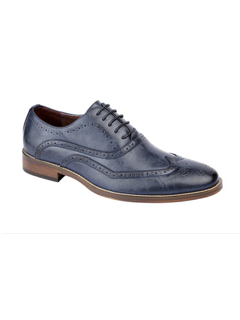 Aegean Blue Oxford Brogue Shoe